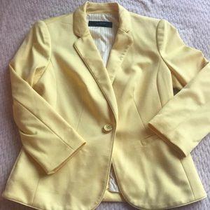 The Limited pastel yellow blazer